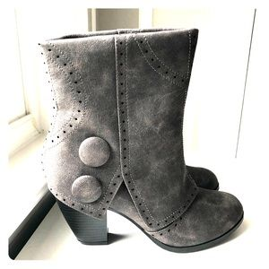 Grey Steampunk style Boots